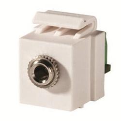 Keystone, 3.5mm Stereo Jack, Screw Terminal, Cloud White