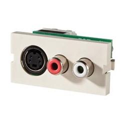 Série II S-vidéo RCA rouge/blanc, 110/IDC, brouillard blanc
