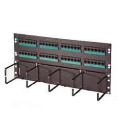 """Clarity 5E hinged 48-port panel with lower cable management panel, Cat5e, six-port modules, 19"""" x 8.75"""""""