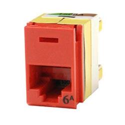Charger de clarté 6 a panneau jack arrière, T568A/B, 180 deg, rouge