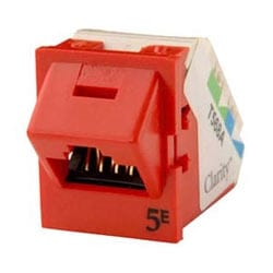 Clarté 5E Angled TracJack, T568A/B, degré 45, rouge