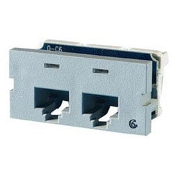 Series II, two-port Clarity 6,T568A/B, 180 degree, Wiremold Gray