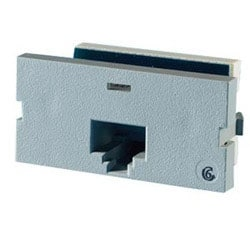 Series II, one-port Clarity 6, T568A/B, 180 degree, Wiremold Gray