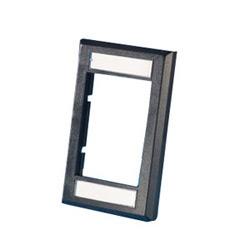 """Série II façade, extra-plat encastré,. 5"""" profond, noir"""