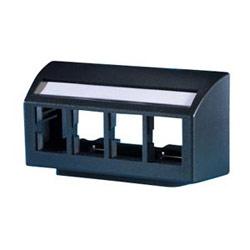TracJack meubles plaque, 4 ports, noir