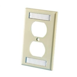 106 Cover Plate (single gang), Electrical Ivory