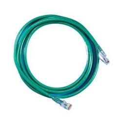 Cordon de raccordement modulaire, Cat 6, quatre paires, AWG échoués, PVC, longueur 15', vert