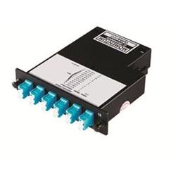 Momentum 2 Cassette, 50 micron multimode fiber, 1U, 12 fibers, LC duplex connectors