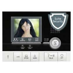 Station de locataire vidéo couleur mains libres avec Pic. Mémoire, Suite sécurité, Communication interne avec Gt-2H/Hb/Hs - noir