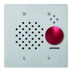 Fl Mt 2-Gang Substation with Red Mushroom Button, Stainless Steel