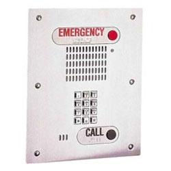 ADA, hands-free outdoor keypad emergency phone, flush mntd