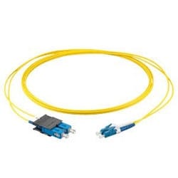 LC Duplex To SC Duplex Patch Cord, 2 Fibres, Zipcord Tight-buffered Cable, LSZH, 2.0 Mm Legs, Single-Mode (OS2), 6 M