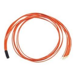 Spider Fan-Out insert for six 250 µm multimode fibers, 50 µm (OM2) or 62.5 µm (OM1), 3.0 mm legs, orange