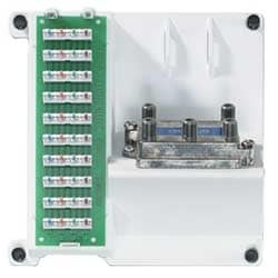 47603-1G4 Compact Series Telephone and 4-Way Video Panel, White