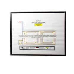 Framed reference map; 11in x 14in (27.9cm x 35.5cm), includes electronic copy