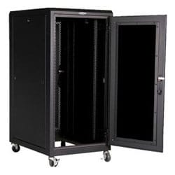 "E Series Enclosure, 48""H x 24""W x 32"", 24 RMU, RoHS, Black, Advantage White, or Nitro Blue"