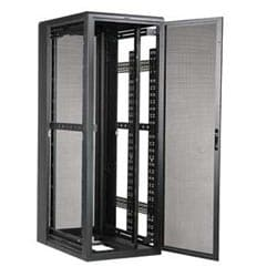"ES Server Enclosure, 84""H x 30""W x 42""D, 44 RMU, Split Mesh Rear Door, RoHS, Black or Advantage White"