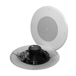 "8"" DUAL CONE SPEAKER          W/VOLUME CONTROL 4 WATT WHITE"