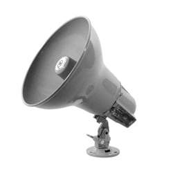 Compression Type, Double Re-entrant Horn Loudspeaker with an Integrated 16 W-25/70 V Transformer