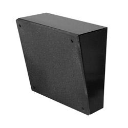 """8"""" O.D. haut-parleur, support mural, carré, noir, avec transformateur 5W-25/70V grille grise avec VC"""