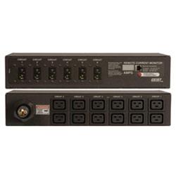 Actuel de surveillance multiprise - 19 po 2U horizontal, amp 60 3 ~ 208V, 12 points de C-19, surveillance actuelle (local & compatibles ethernet).