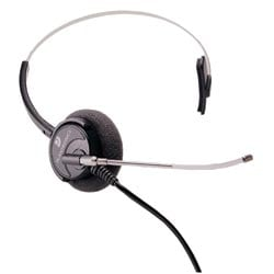 Supra Polaris, un-amplified monaural with Quick Disconnect, no amplifier required. For Nortel phones having a headset jack.