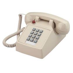 Cortelco base monoligne Desk téléphone avec Message en attente en noir