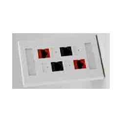 Work Area Outlets; Faceplate TrueNet Series 4 Ports Unloaded Configuration Accepts: TrueNet Keystone Connectors