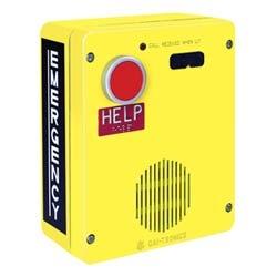 ADA, analogique, téléphone d'urgence en plein air, mains libres, un grand rouge Auto-dial (composer), Surface monter avec non-métalliques et matériel inviolable, jaune vif