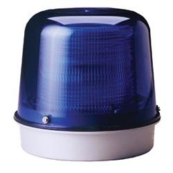 Stroboscope LED bleu dispose d'une colonne de LED intégrale avec opérations constante-sur et clignotantes. Comprend également une sortie Contact secondaire pour l'Activation de l'équipement auxiliaire externe