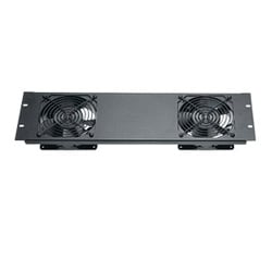 Quiet Fan Panel Assembly - One 120 V AC Fan, 3 Space Textured Finish