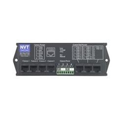 4 canal UTP puissance données vidéo câble intégrateur
