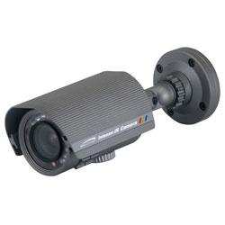 Intense-IR série Hotte objectif varifocal Bullet caméra, DC Auto 4 à 9mm, Version blanche