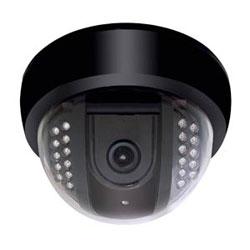 Caméra dôme intérieure IR avec 4-9 mm VF Wall Mount adaptateur inclus blanc