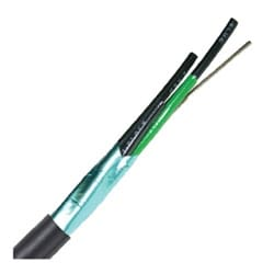 """Flexible Tray Cables, Stationary, 16 AWG (7 strand) 1.32 mm2, 3 conductor, Black PVC Jacket, Unshielded, Foil Tape0.314"""" Outer Diameter, 8 Bend radius"""