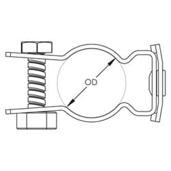 CATHP-CD J-Hook Attachment with Pedestal Clamp