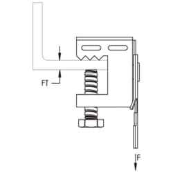 CATHP-BC J-Hook Attachment with Beam Clamp