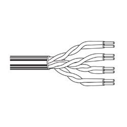 Multi-Conductor - CatSnake 4-Pair 24 AWG PP FRPVC Black, Matte
