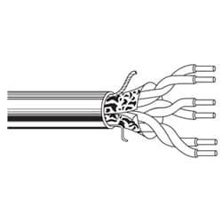 Multi-Conductor - Commercial Applications 3-Pair 22 AWG PP FS PVC Gray