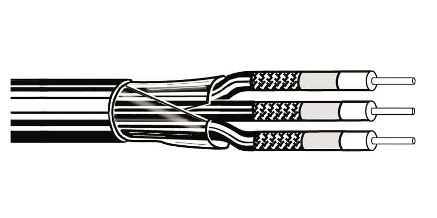 Coax - RG-59/U 3 20 AWG PE/GIFHDPE SH FRPVC PVC Black, Matte