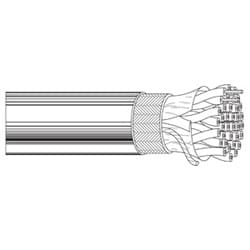 Multi-Conductor - Low Capacitance Computer Cable for EIA RS-232/485 18-Pair 28 AWG FHDPE SH PVC Chrome