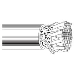 Multi-conducteurs-chapeau bas. Câble d'ordinateur pour EIA RS-232/422/485 Applications 25 24 AWG PR FS SOLEF Gray