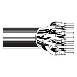 Multi-conducteurs-Audio, de contrôle et d'Instrumentation câble paire 2 24 AWG PVC FRPVC Chrome
