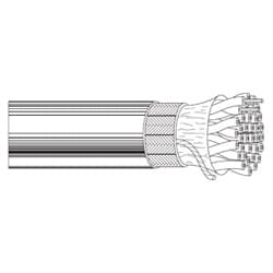 Multi-Conductor - Computer Cable for EIA RS-232 Applications 23 Conductor IEEE 488 Cable Gray