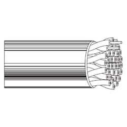 Multi-Conductor - Category 3 Nonbonded-Pair Cable 2-Pair U/UTP CMR Box Gray