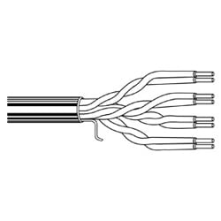 Multi-Conductor - Enhanced Category 5E Bonded-Pair Cable 4-Pair U/UTP CMR Box Gray, Dec