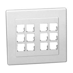 Panels - MDVO Faceplate, 12 Port, Double Gang, Flush White