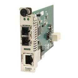 10/100 convertisseurs de média de Slide-In-Module de raccordement Point System (TM) 10/100-TX (RJ45) [m 100/328 pi] à multimode de nm 100 1300-FX (SC) (2 km/1,2 milles)
