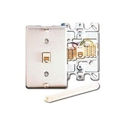 Telephone Wall Jack, 6P6C, quick connect, stainless steel