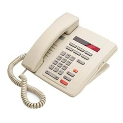 Single Line Analog Phone - Gray With Redial, Hold, Message Waiting And 6 Memory Keys